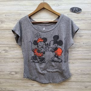Disney Park Mickey & Minnie Mouse Graphic Top